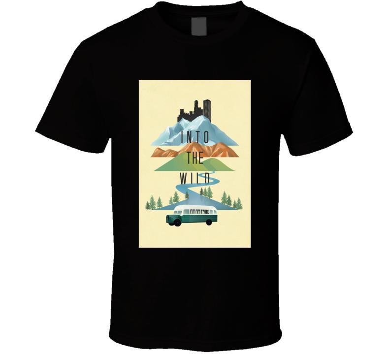 Gli uomini tshirt Into the Wild (2007) Film maglietta della maglietta della maglietta Donne