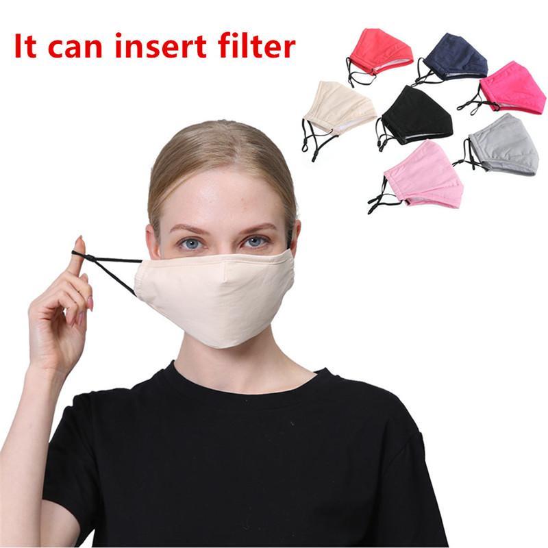 Cotton Maschera Designer riutilizzabile lavabile panno unisex maschere di protezione antipolvere viso protezione maschera 10pcs