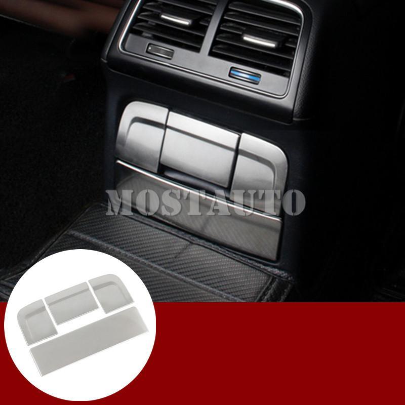 Для Audi A5 S5 Интерьер консоли Задняя пепельница сигареты крышки рамки 2008-2016 4шт