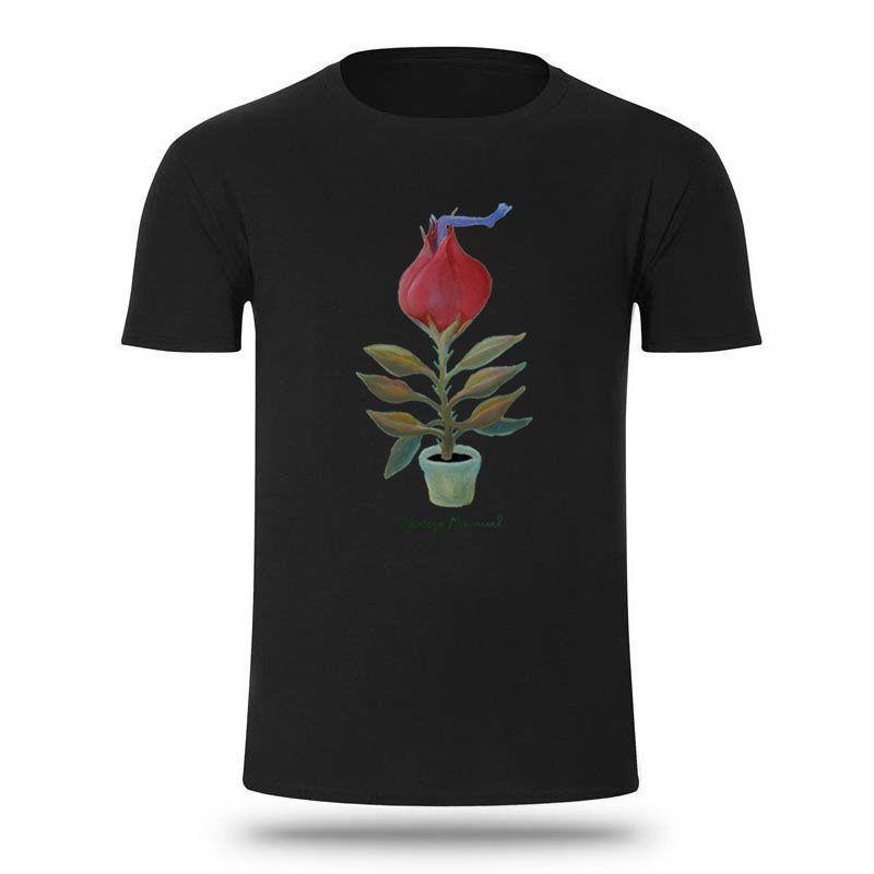 Смешные Хищные растения Мужская Tshirts Большой размер XXXL Hipster Досуг T-Shirt для мужчин 100% хлопка Tee Top