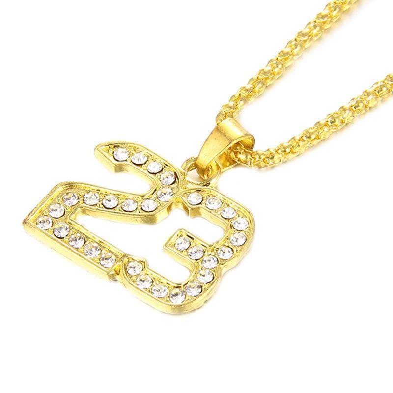 Neuer hochwertiger Brief 23 13 Halskette mit Gold Trend Halskette Zubehör Schmuck gut, freies Verschiffen.
