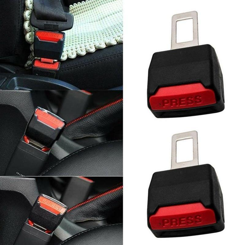 2pcs Car Safety Seat Belt Extension Buckle Alarm Plug Auto Seat Belt Extender Eliminate Alarm Plug Clip Car Interior Accessories