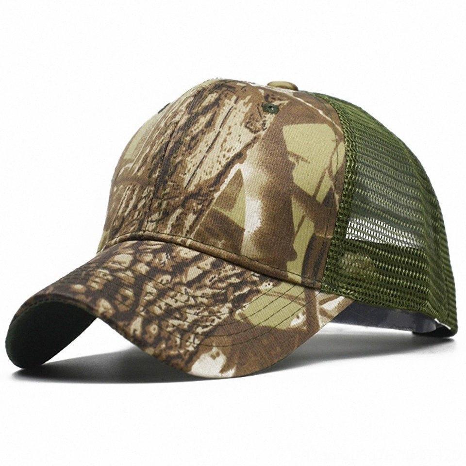 Verão Baseball malha Camo Caça Voleibol desgaste atlético Outdoor Vestuário Tactical Snapback Caps respirável Militar do Exército Chapéus Sunp Lapi #