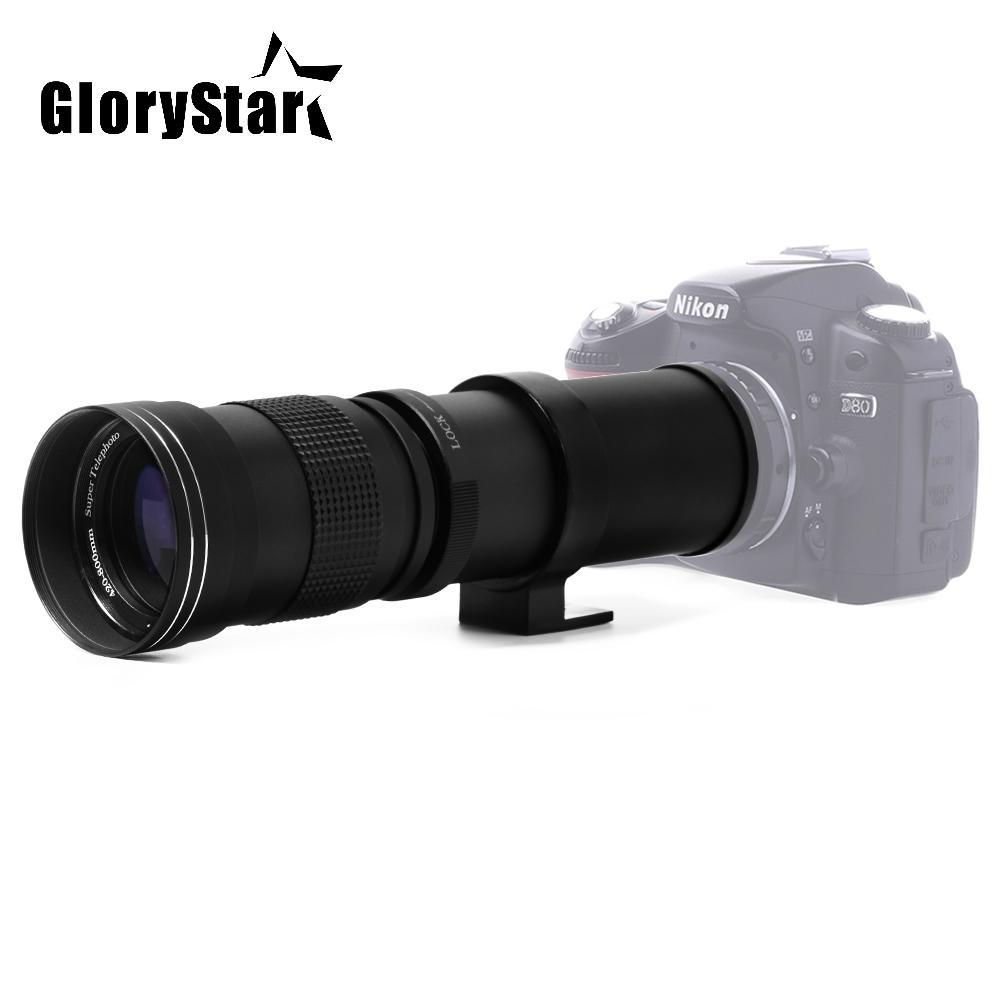 Glory Star 420-800mm F/8.3-16 Super Telephoto Lens Manual Zoom Lens for Canon Nikon Sony Pentax DSLR Camera