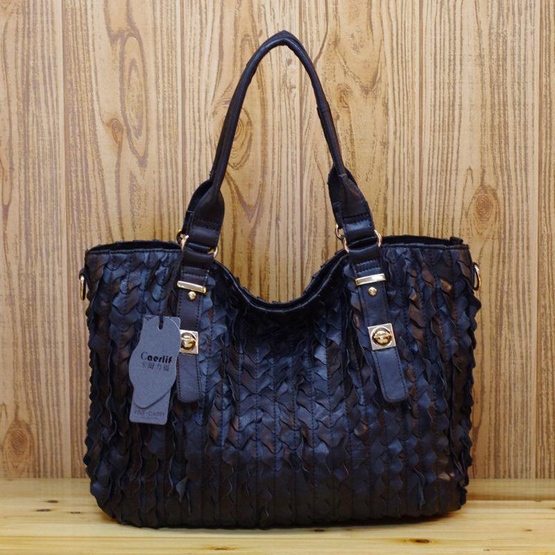 Luxury Handbags Women Big Bags Designers 2020 High Quality Women Genuine Leather Shoulder Bag Handbag Ladies Colorful Black Tote Hand Bags