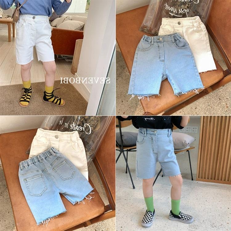 2020 small naughty comfortable soft denim shorts Korean style cycling girls stretch five Bicycle pants shorts car pants points