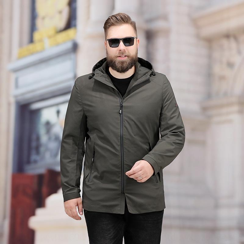 qWlAx Primavera e Outono gordura extra grande tamanho do homem solta grandes dos homens revestimento do hoodie além de Top Coat cor da gordura coat moda sólida além de topo