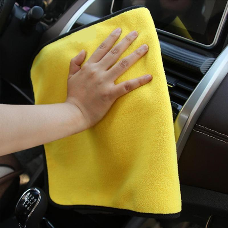 Superabsorbants Car Wash Serviette en microfibre velours corail Serviette carrée absorbant l'eau facile à nettoyer Rag Chiffons outil