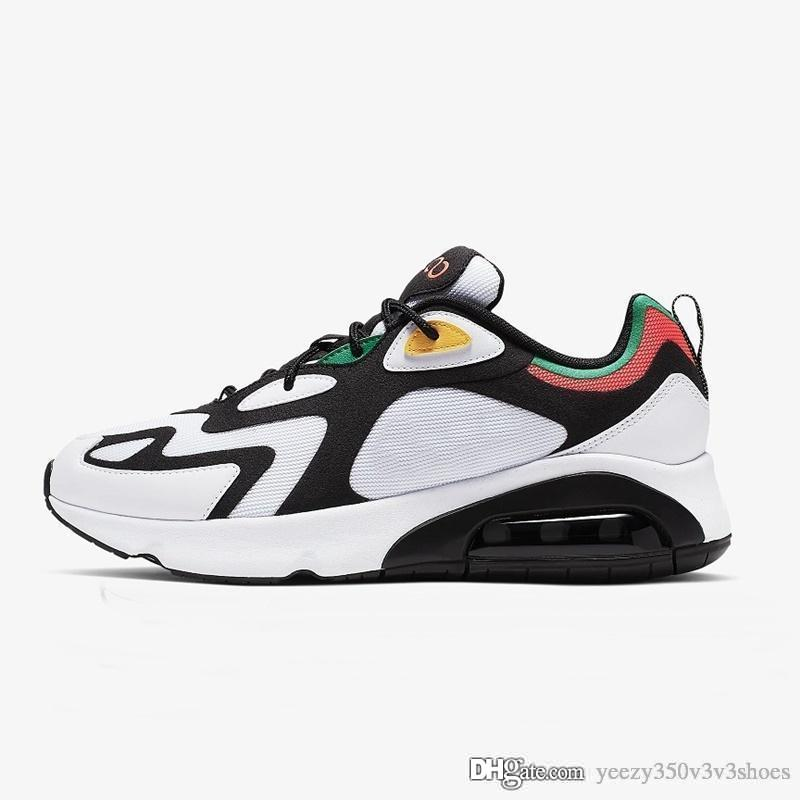 2020 Top Quality Airs homens mulheres 200 Shoes Bordeaux Universidade Branco vermelho grande Childrens Meninas Meninos azuis Formadores Sneakers sz36-45 HHOH-54854