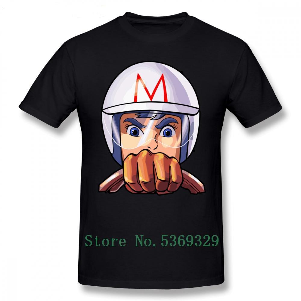 Hokage T-Shirt Mach 5 T-Shirt-Baumwollkurzschluss-Hülsen-T-Shirt Man 100% Druck plus Größe nette T-Shirt
