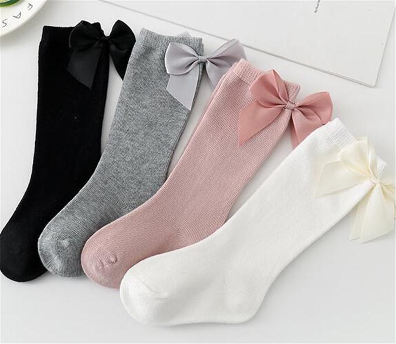INS KIDS 유아 신생아 양말 큰 활 코튼 스타킹 Mid Long Long Floor Socks Shoes Boys Girls 유아 0-3 년 Chidlren LY728-2