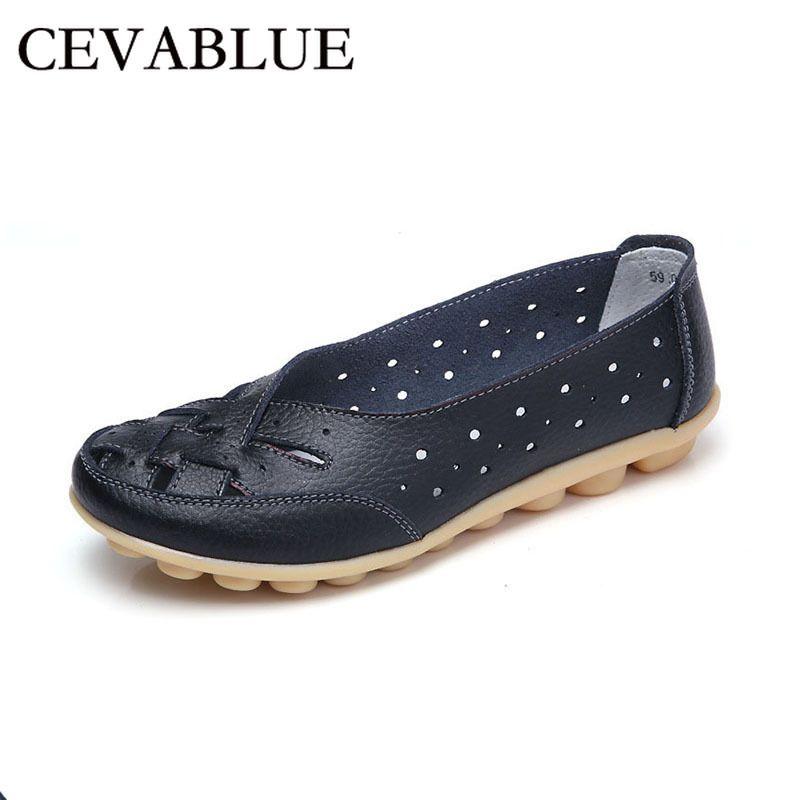 CEVABULE Kadınlar Düz Deri Ayakkabı Yeni Moda Örgülü Hollow Deri Düz ayakkabı Casual Comfort Flat Kadın Ayakkabı CX200722