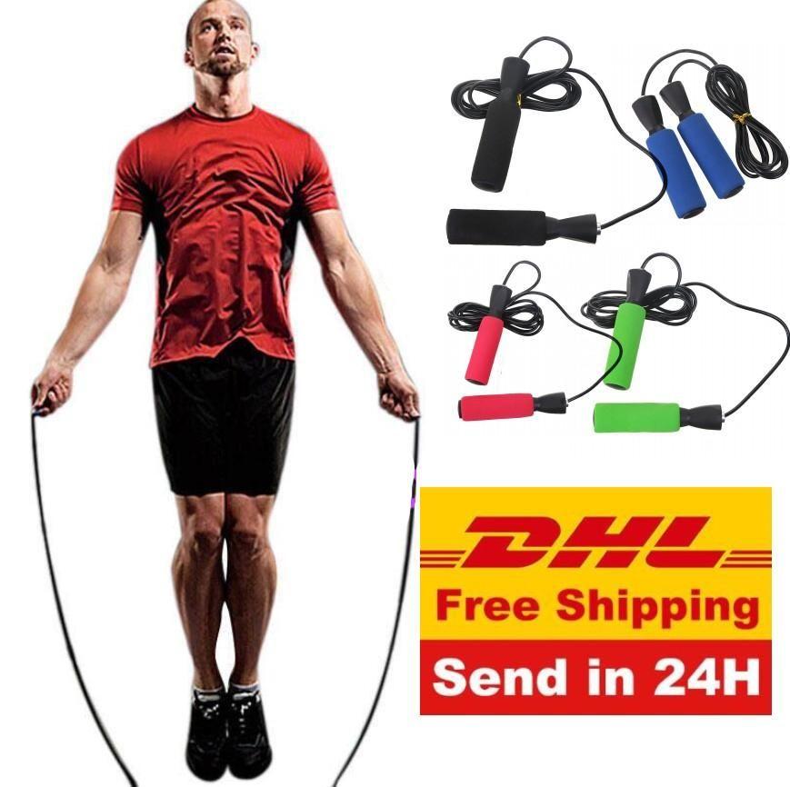 ACCIÓN US colorido ejercicio aeróbico boxeo de Saltar la comba cojinete ajustable velocidad de fitness Negro Unisex Hombres Mujeres Jumprope FY6235