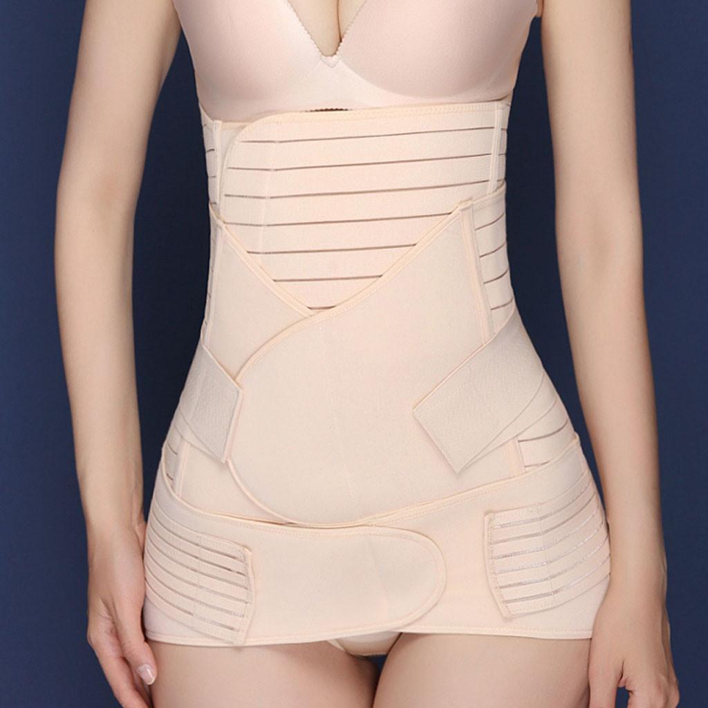 3 en 1 Postpartum Support de récupération du ventre Wrap taille / Ceinture Pelvis cincher Body Shaper postnatal amincissants Set 12,17 MX200711