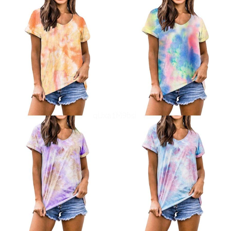 6colors T-shirt Estate manica corta T-Shirt Plus Size Loose Women Tops 3XL maglietta poco costoso della Cina di trasporto che coprono libero # 365