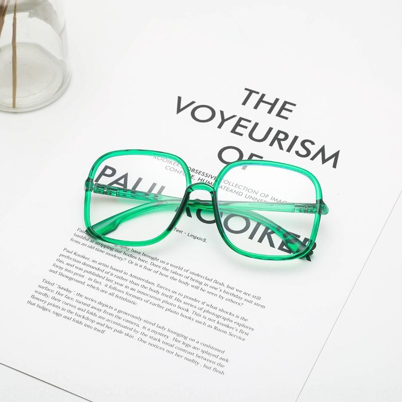 4BJPu anti-radiation yeux clairs anti-bleu lunettes visage rond grand visage peut correspondre à la protection des yeux degré monture de lunettes plaine de la mode des hommes 770