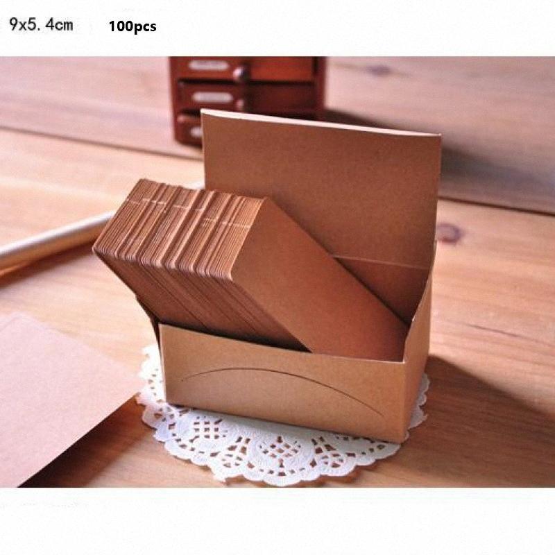 100pcs Minikraftpapier Karte Wörter Memo Nachricht Karten für Geschäftsstelle Schule Briefpapier AAPF #