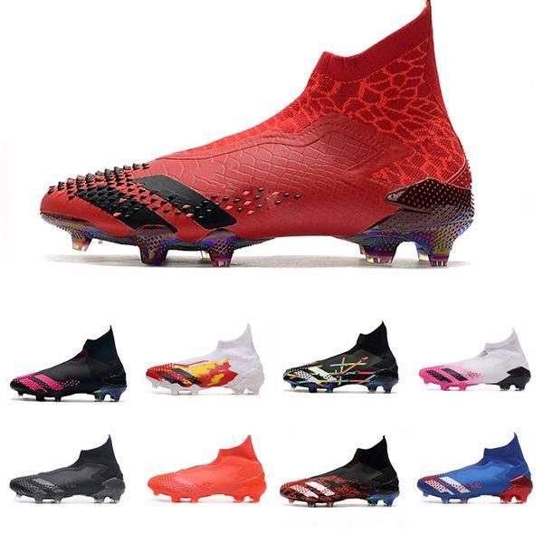 كرة القدم أحذية عالية المفترس 20+ Laceless ADV التنين طبعة محدودة الأساسية الأسود صدمة الوردي الشباب الكبير الاطفال رجل محلية حزمة كرة القدم المرابط