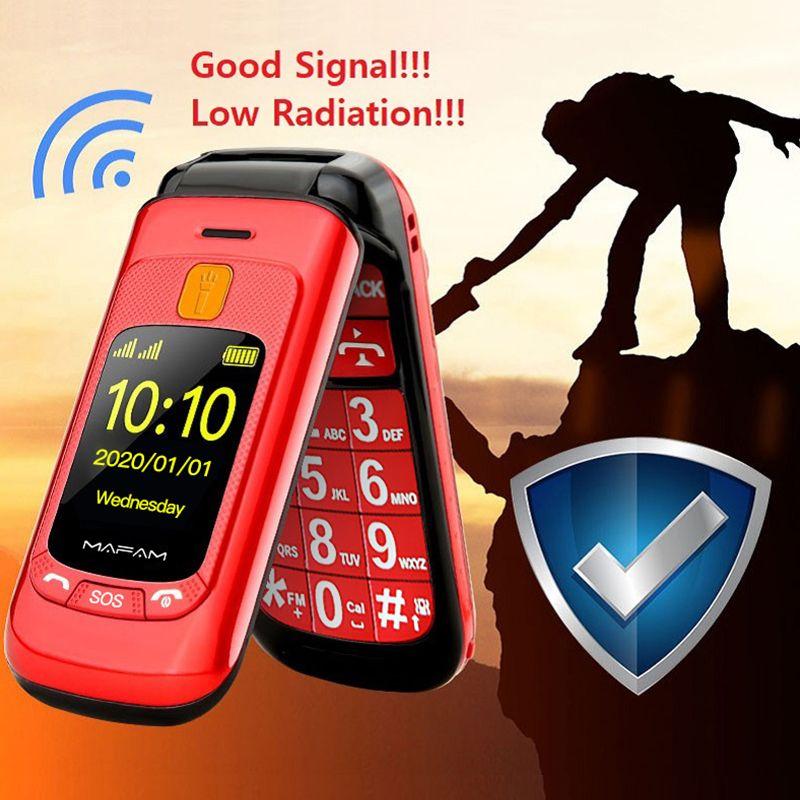 Teléfonos de células de giro mayor desbloqueado Teléfono de doble pantalla doble 2 Tarjeta SIM Dial de velocidad SOS Key Touch Handwriting Big Keyboard FM para personas mayores