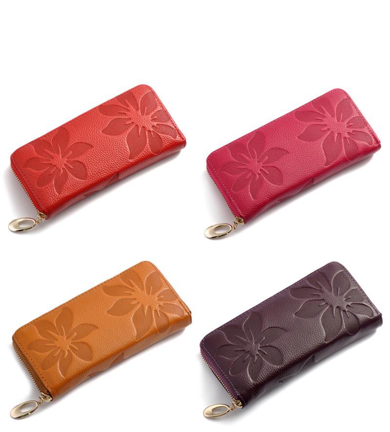 معصمه المرأة طويلة المحفظة العديد من الإدراجات الإناث محافظ مخلب سيدة محفظة سستة الهاتف جيب بطاقة حامل السيدات carteras