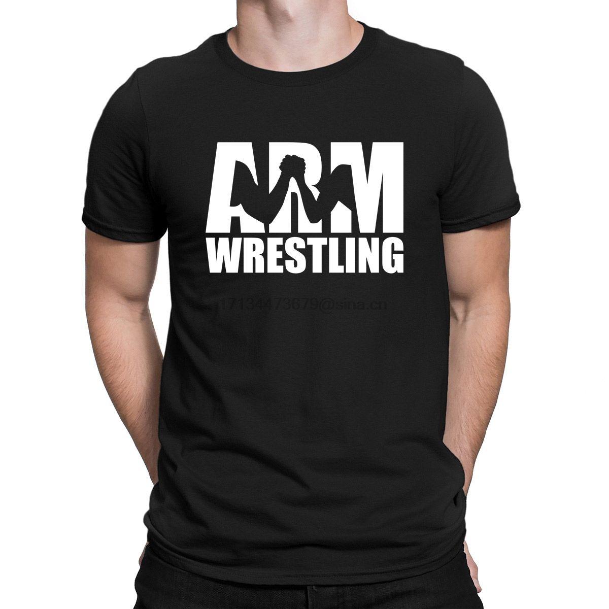 Рука Wrestlings Tshirt Лето Стиль Фитнес Классический евро Размер S-3XL Тенниска для мужчин Дизайн Top Tee Тонкий изворотливый