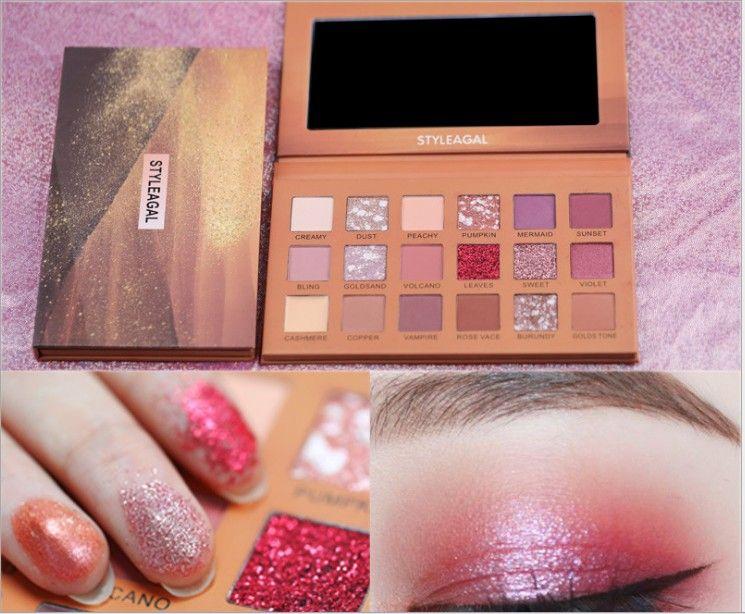 Kozmetik Makyaj Yeni 18 renk çöl gülü göz farı tepsi kutusu patates püresi yerli kozmetik