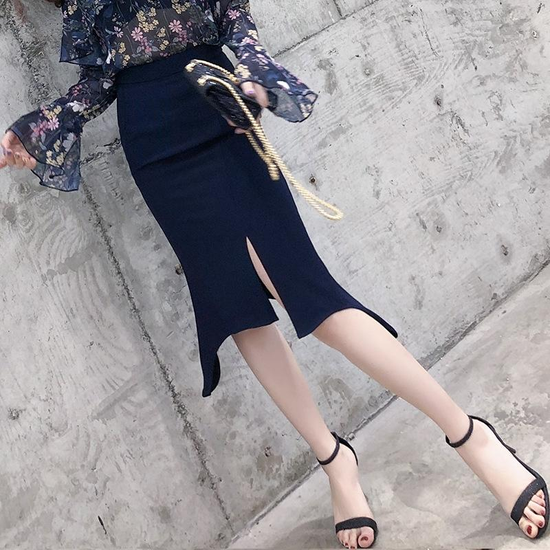 Usura delle donne 2020 nuovo vestito in linea 'S 2020 gonna celebrità ins stile vita anca medio-lungo alta diviso gonna irregolare