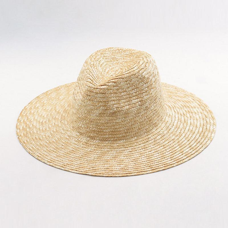 Mens Womens Summer Jazz Hat 100% Crocheted wheat Straw Hat Body DIY Craft Millinery base Fedora Panama Beach UV Sun Hats CX200715