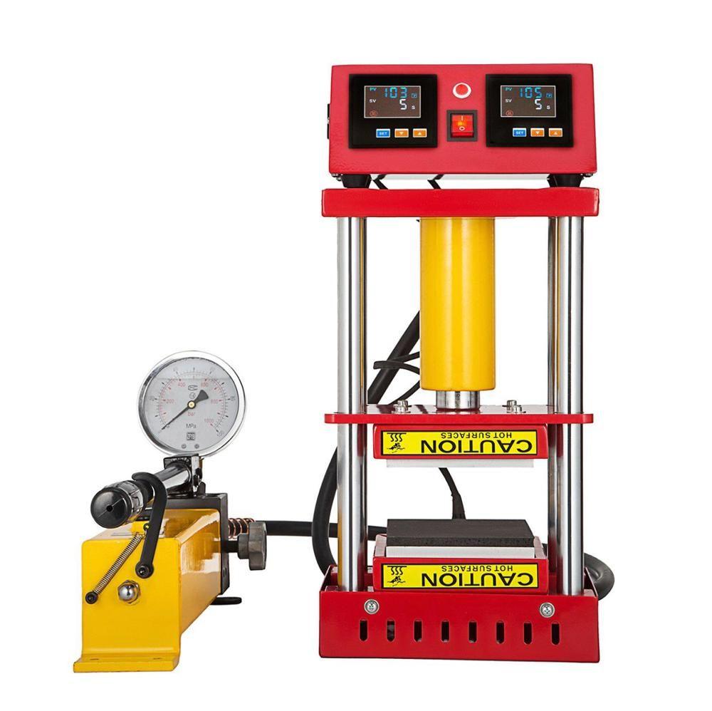 جديد ارتفاع ضغط اليدوي نموذج هيدروليكي روزين الحرارة الصحافة آلة نقل آلة مع لوحات التدفئة المزدوجة LED تحكم