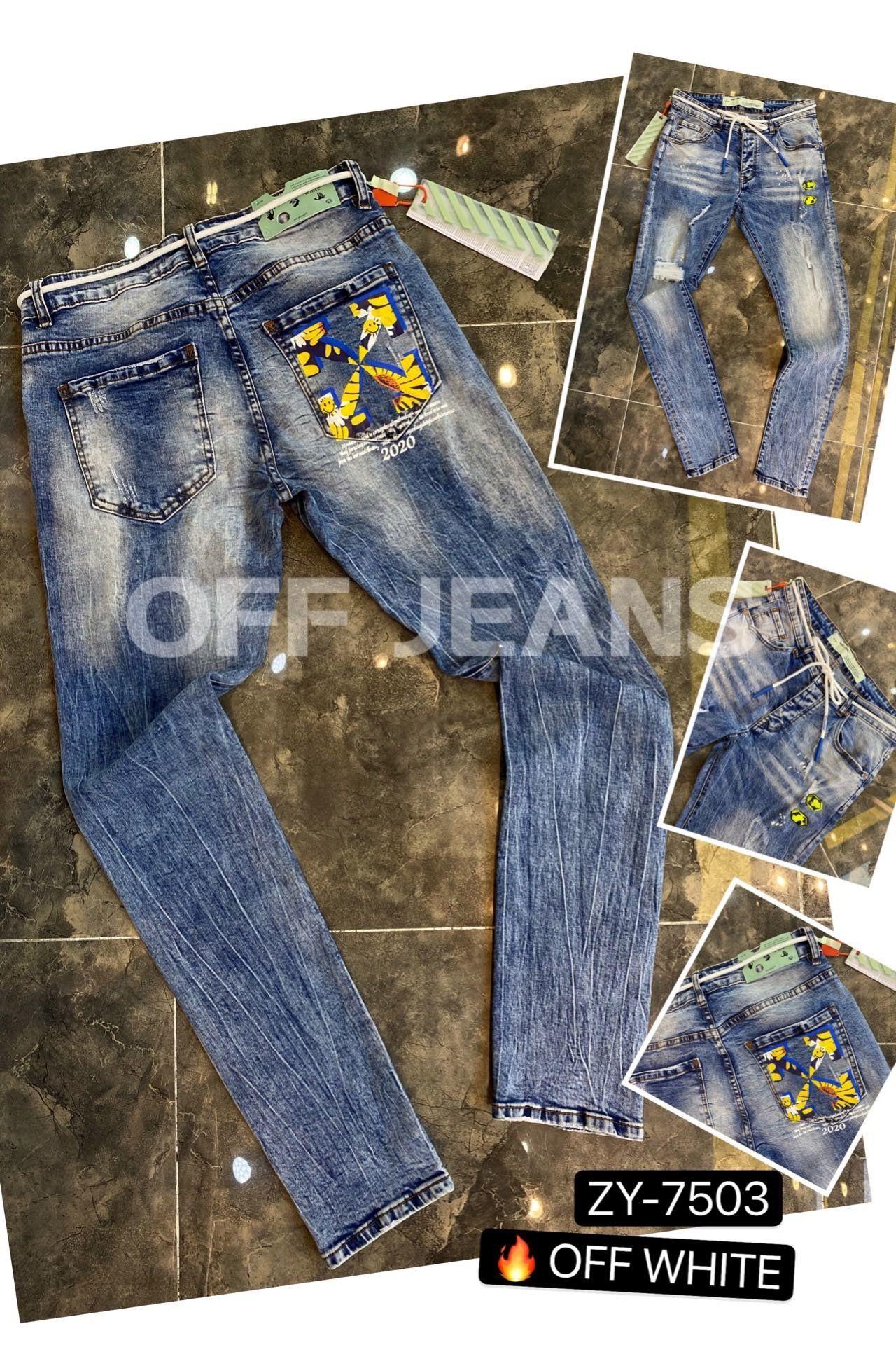Toptan-Erkek Skinny Düz İnce Elastik Denim Fit Biker Kot Pantolon Ripped Uzun Pantolon Şık Düz Dar Kesim Jeans ~~ SR50 #