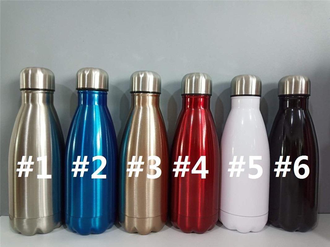 de acero con aislamiento botella de agua 350ml inoxidable de doble pared botellas de agua personalizadas protable fuera botella de regalo para el amigo cola C01