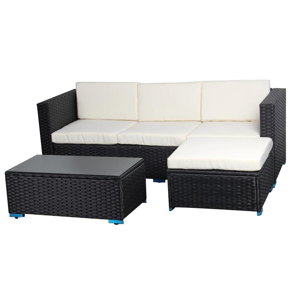 Allwetter Terrasse im Freien Rattan Sofa Gartenmöbel zum Verkauf High End Wicker Outdoor-Rattan-Möbel