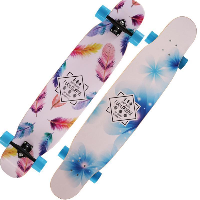 التزلج 12x24x14 سنتيمتر سطح سكيت كامل سكيت مجلس 7 نمط القيقب الخشب عالية السرعة المراهقين هدية عجلة بكرة