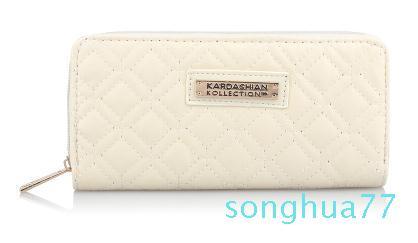 Diseñador vendedor caliente de Kk Monedero larga Design carpetas de las mujeres de cuero PU Kardashian Kollection alto grado del bolso de embrague del monedero del bolso de la cremallera