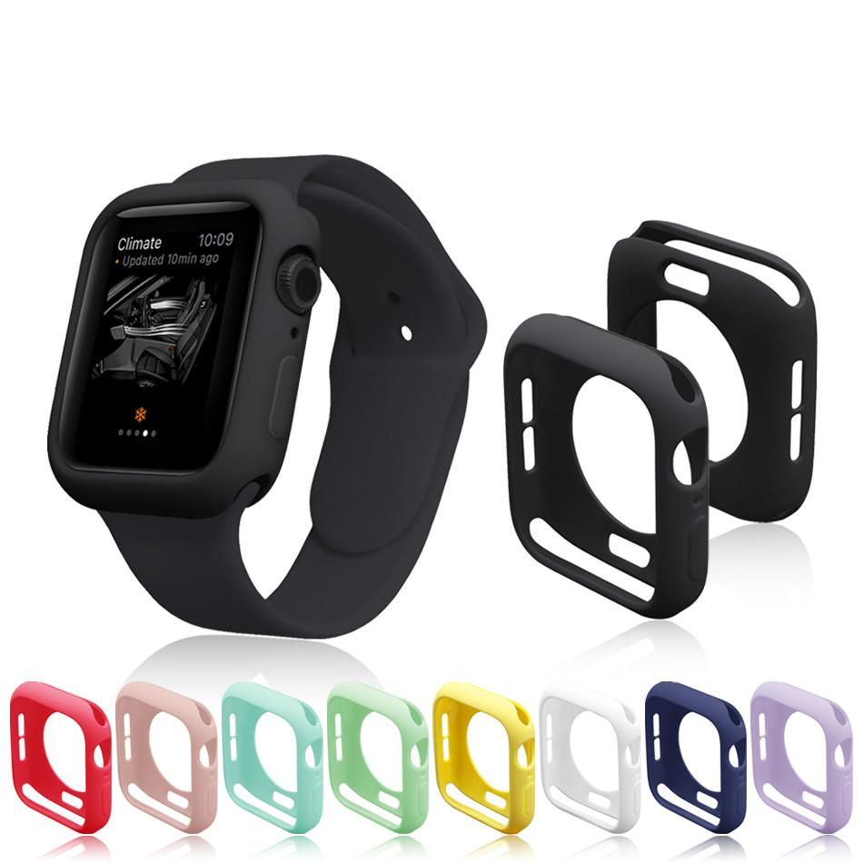 Watch Cover Case For Apple Watch SE/6/5/4/3/2/1 40mm 44mm Scratch Pinkycolor Colorful Soft Cases For iWatch Series 3 2 42mm 38mm