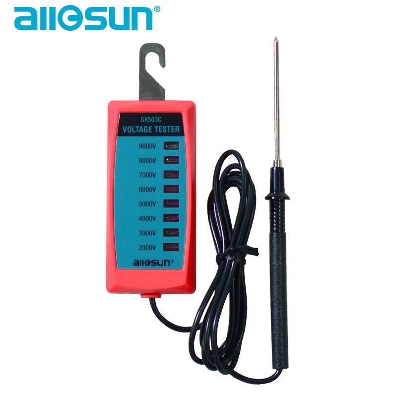 جيب الحجم الكهربائية سياج عالية الجهد متر 2000-9000V هوك نوع المبارزة أداة LED النظير بيان نموذج جميع صن GK503C