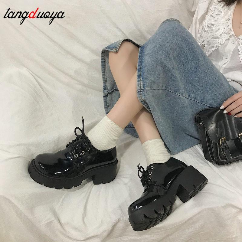 Chunky Sneakers Women Platform Oxfords