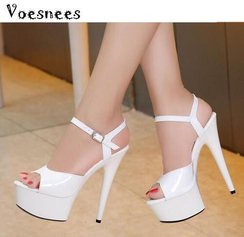 Steel Pipe Dance Women Shoes 2020 New 15cm High-heeled Sexy Fish Mouth with T-Taiwan Catwalk Models Show Car Show Female Sandals