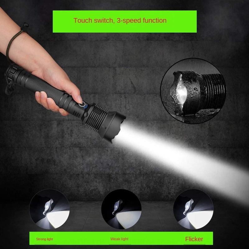 carregamento P50 P70 liga de alumínio telescópica de focagem com lanterna lanterna eléctrica quantidade visualização USB wVEFq forte