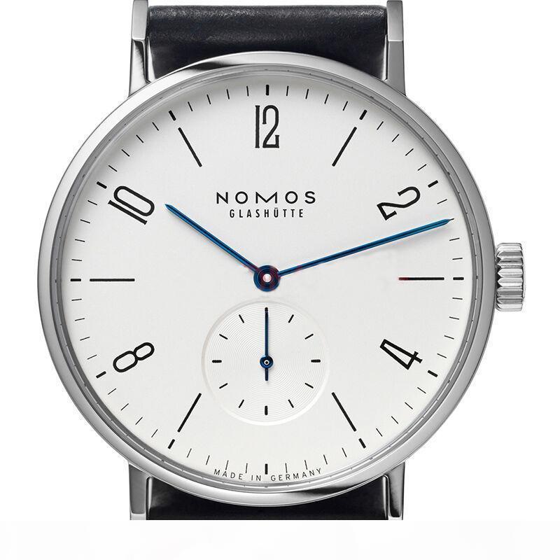 Al por mayor de hombres y mujeres simples mujeres de moda de cuero de diseño minimalista correa de cuarzo relojes resistentes al agua relojes de las mujeres Marca nomos