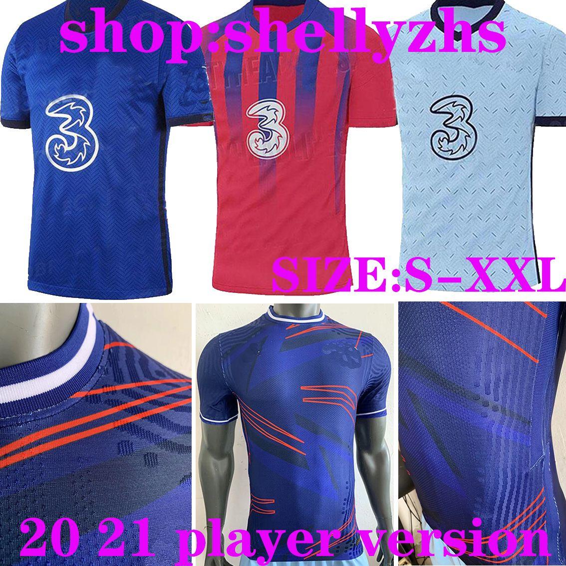 20 21 Игрок Версия Pulisic Soccer Trackys 2020 2021 гора Авраама Уильян Педро Лампарда Футбольная футболка HUDSON ODOI Kante Men Kit