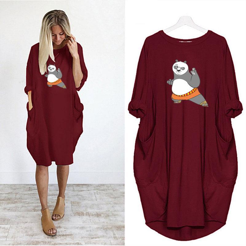 Tasarımcı Kadın DIY Elbiseler Yaz Sonbahar Günlük Elbise Kadın Gevşek tişört Kadın Kısa Etek Pamuk Blend Asya Boyut S-5XL A016