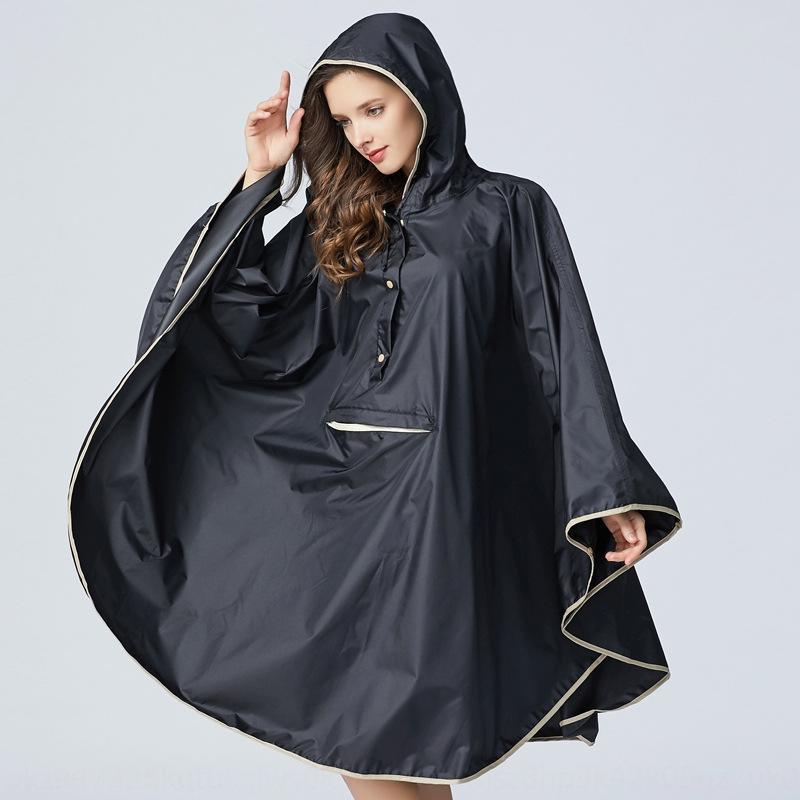 moda japonesa y coreana de los hombres delgados y del poncho del ciclismo S8YRE mochila bicicletas capa capa impermeable adulta de las mujeres