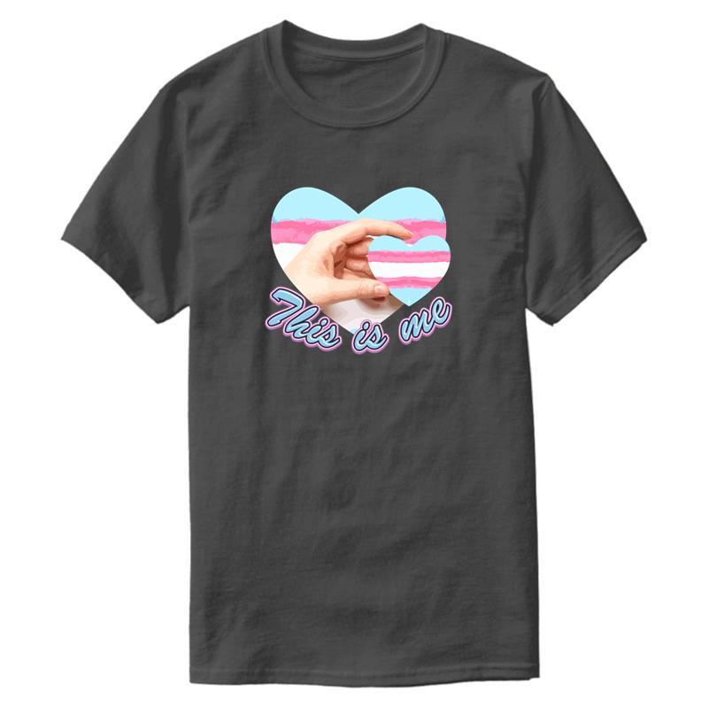 Creativo Grande Questo sono io Transgender Cuore T shirt Uomo Donna 2020 Uomo Naturale maglietta del cotone di abbigliamento di marca Hip Hop