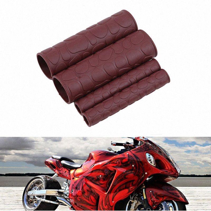 Manejar apretones de la mano del manillar de la motocicleta agarre de goma del gel de la manga de la motocicleta modificación con manillar Gripbar Gripbar freno cubierta Q81D #