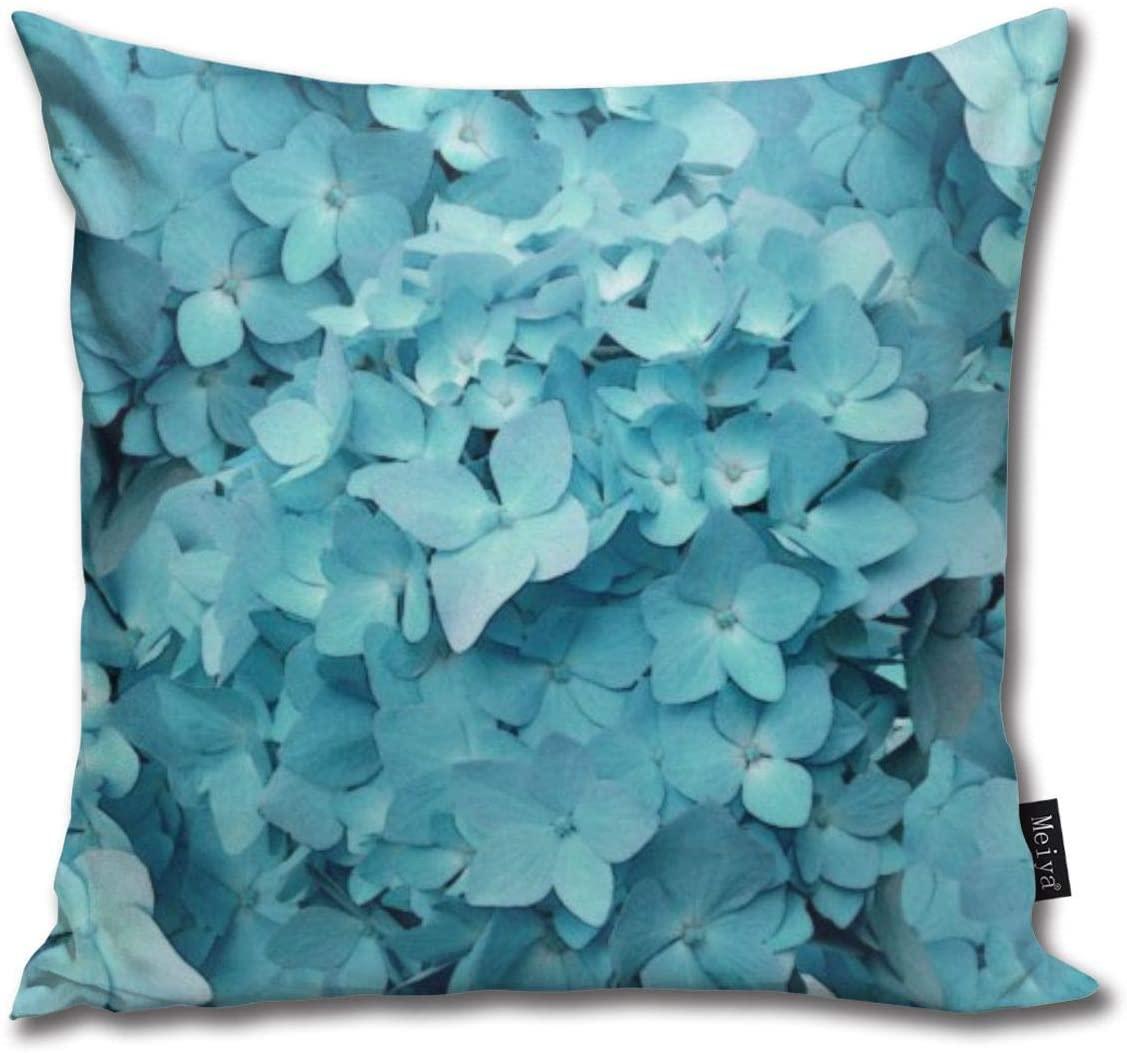 değil BAKKAL Teal Ortanca Çiçek Dekoratör Yastık Vücut Yastık Yastık 8inch × 18inc = 45cm x 45cm Kare Yastık Dekorasyon atmak ÇÖZMEK