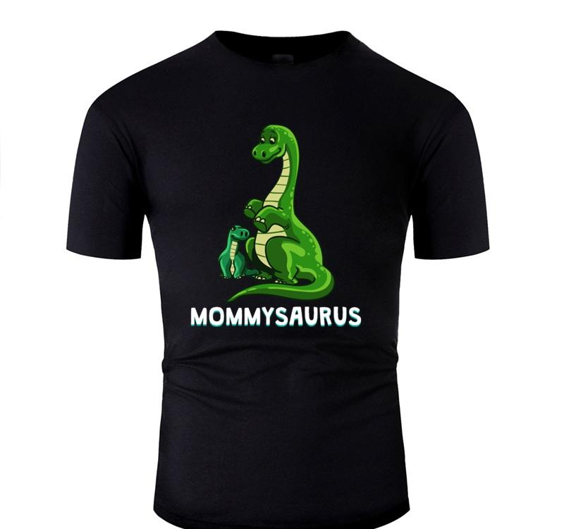 Gestrickte Dino Mom Mommysaurus Mama Lovers Mama-lustige Geschenk-T-Shirt Mann Humor Comics T-Shirts Big Size 3xl 4xl 5xl