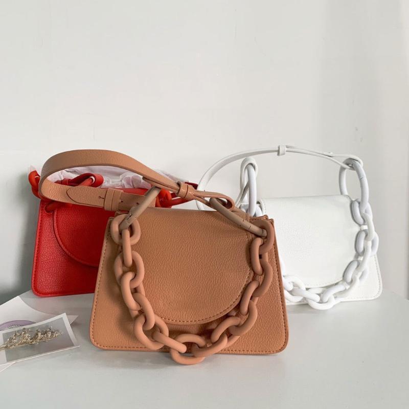 Kalın zincir çanta moda omuz diyagonal çantası