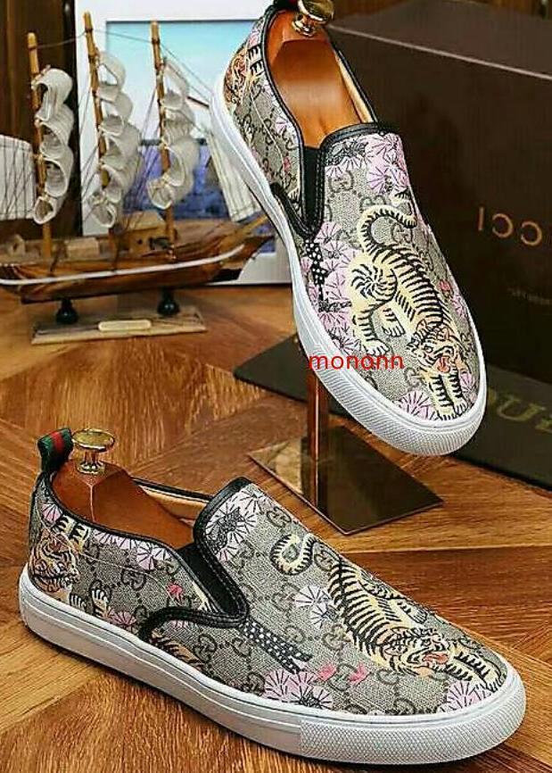 2019 uomini s top bianco moda scarpa da tennis Ace fannulloni della scarpa da tennis ricamati Driver scarpe Sneakers Espadrillas Flats