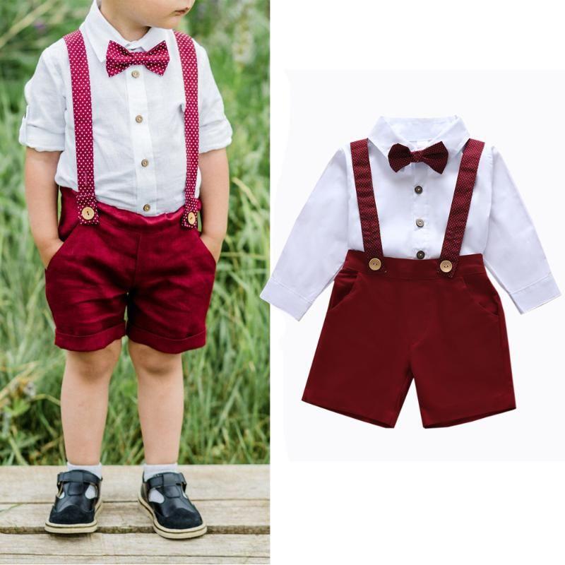 Mode-Kleinkind-Jungen-Kleidung-Sommer Jungen Set White Boy-Shirt + Shorts Sets für Kinder